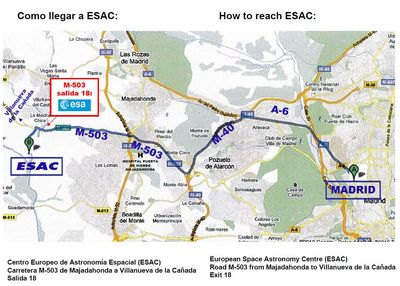 How to get to ESAC
